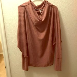 Tops - Mauve Batwing Thermal